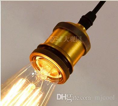 Ретро классический chandelier10 E27 золотой паук лампа кулон держатель лампы группа Эдисон diy освещение лампы фонари аксессуары посланник провода