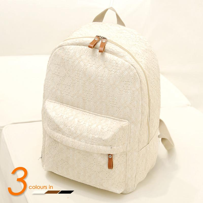 16f8905d47 2015 New Fashion Backpack Women Men Canvas White Lace Student Shoulder  Children Black School Bag Travel Sports Kids Backpack Bags Canada 2019 From  Jjl women ...