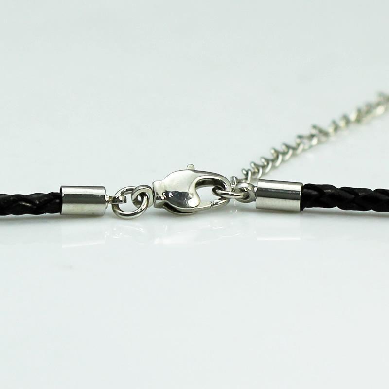 Beadsnice kolye deri dostluk kolye siyah deri kordon ile gümüş kaplama istakoz kapat kadınlar için ayarlanabilir kolye kimliği 24500