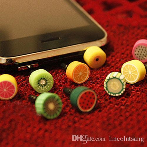 Großhandels/ nette Frucht Antistaubstecker für iphone und 3,5-mm-Kopfhörerkappe für Handys Verschiffen frei