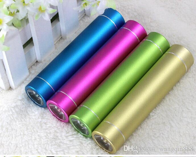 Power Bank Portable 2600mAh Cylinder PowerBank External Backup Battery Charger Emergency Power Pack Chargers for all Mobile Phones