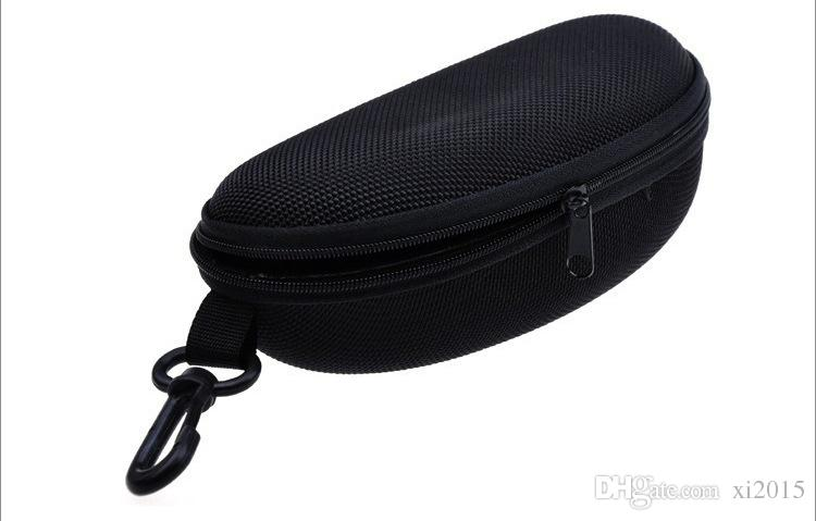 100/pcs Wholesale Designer Sunglasses Eyewear Hard Case Hard Zipper Black Compression Eye Glasses Bag Pouch DHL