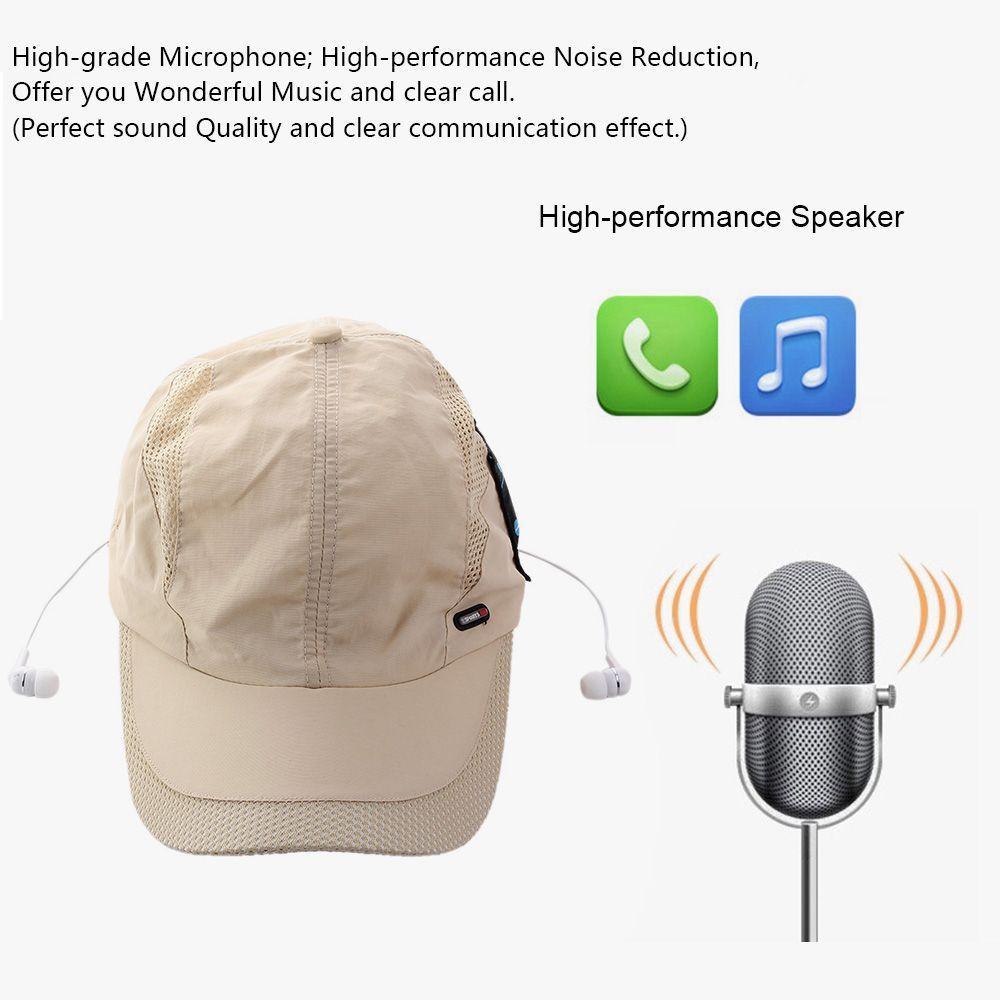 Música sun hat bluetooth fone de ouvido bt 4.0 edr fone de ouvido estéreo esporte peaked cap fone de ouvido handsfree para telefones inteligentes tablet pc
