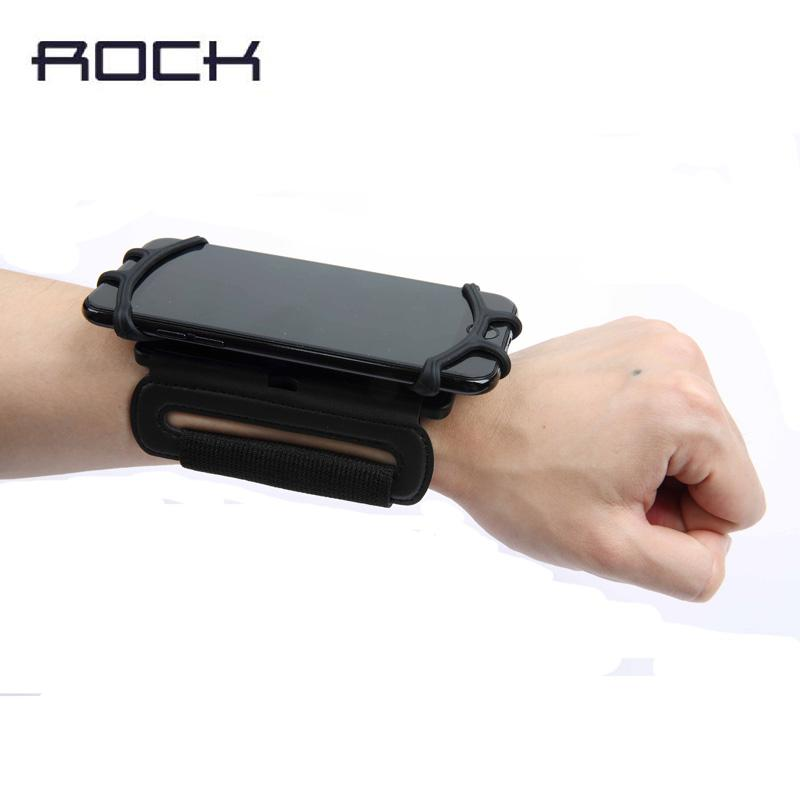 newest d978a 74163 Rock Universal Wrist Band Case For Iphone 7 6s Plus Running Sport Cover  Holder For Samsung S7 Edge S8 S8 Plus Cycling Bumper