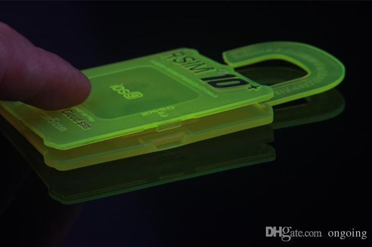 Rsim 10 + R-sim 10 + RSIM10 + PLUS Desbloquear o Cartão Para o iphone 6 S 6 6 mais 5S 4S Perfeito Desbloquear ATT T-mobile Sprint WCDMA GSM CDMA DHL