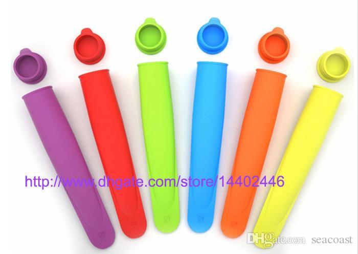 100 stücke Silikon Pop Joghurt Push Up Eis Am Stiel Pop Maker Gefrorene Stick Gelee Popsicle Form Form DIY