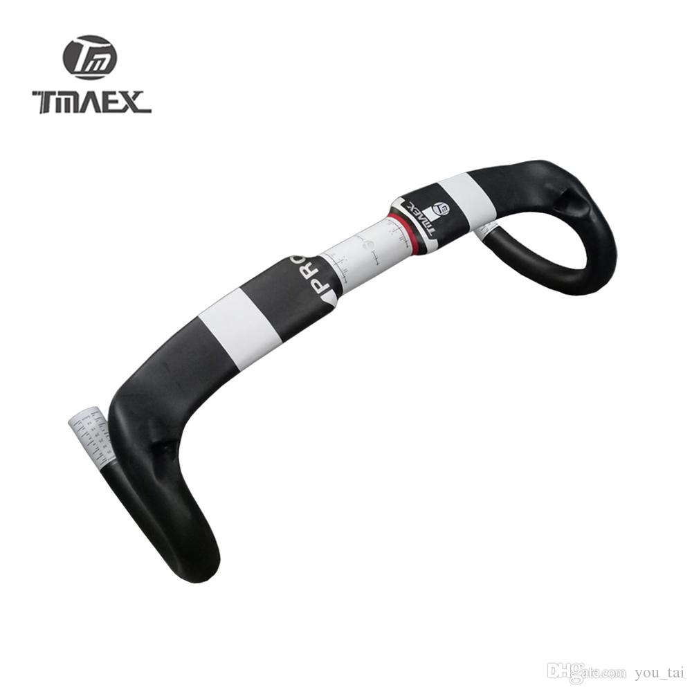 TMAEX PRO White T700 UD Carbon Handlebar Bent Bar Road Bike Racing/Cycling Parts Superlight Bicycle Bent Handlebar