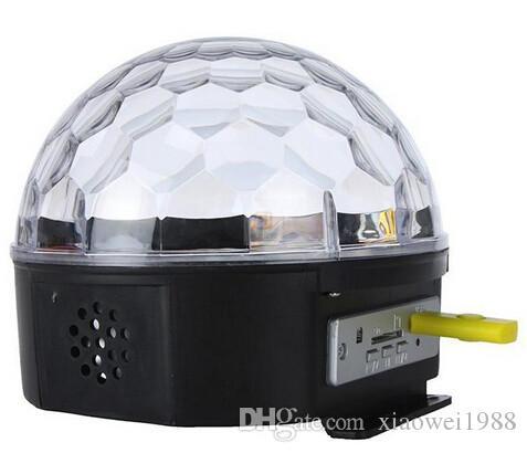 RGB MP3 Magic Crystal Ball LED Música escenario escenario 18W Fiesta en casa discoteca DJ fiesta Luces de escenario iluminación + U Disco control remoto lámpara