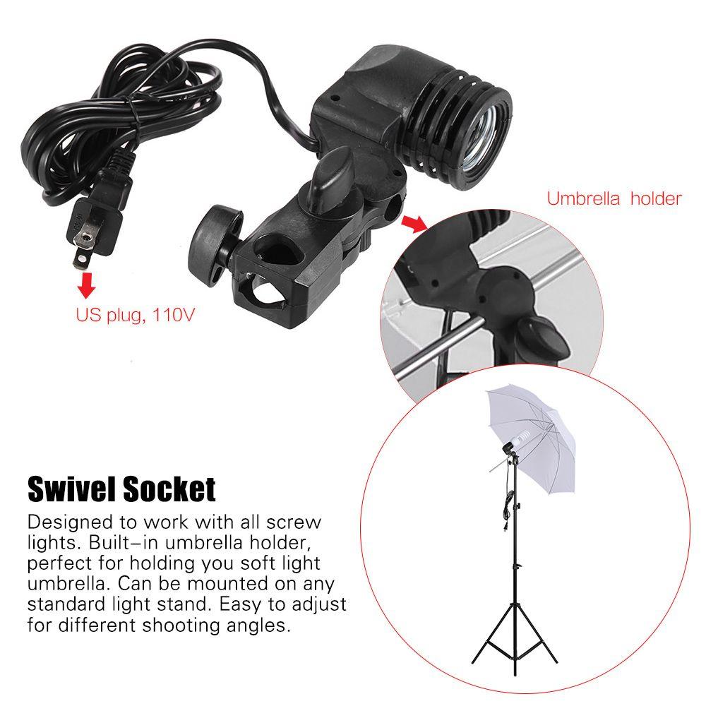 Fotoğraf Stüdyosu Kiti Softbox Şemsiye Ampul Tutucu Ile Ampul Işık Standı Siyah Beyaz Yeşil Ekran Backdrop