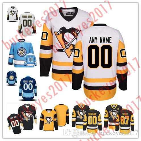 new styles 8dc46 30ee9 official pittsburgh penguins navy blue jersey 9e994 9994e