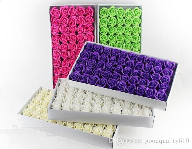 "2"" Multicolor Artificial Flower Rose Soap For Wedding Party Birthday Souvenirs Gifts Favor Home Decorate"