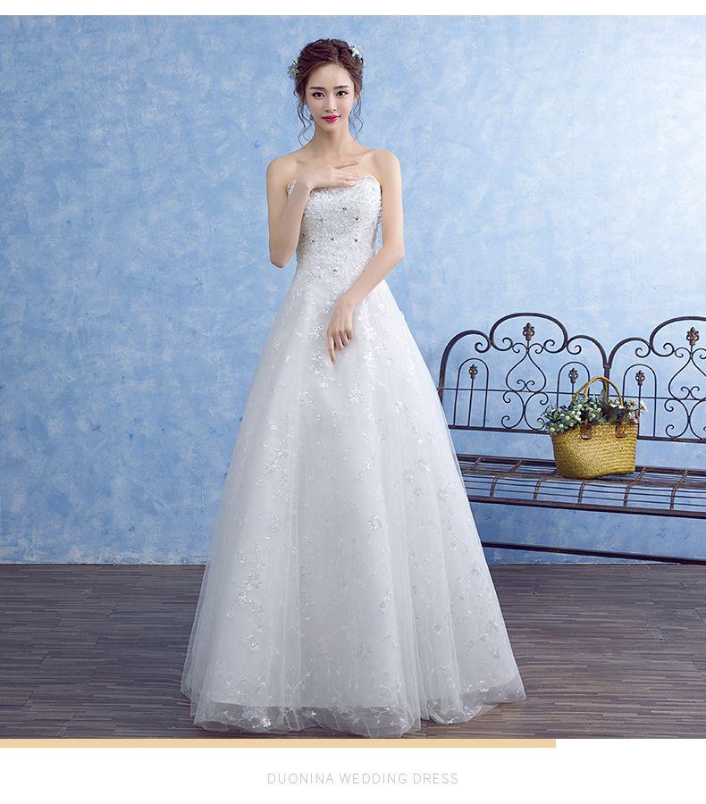 2017 New Bride Wedding Dress Wedding Dress Neat Princess Simple Word ...