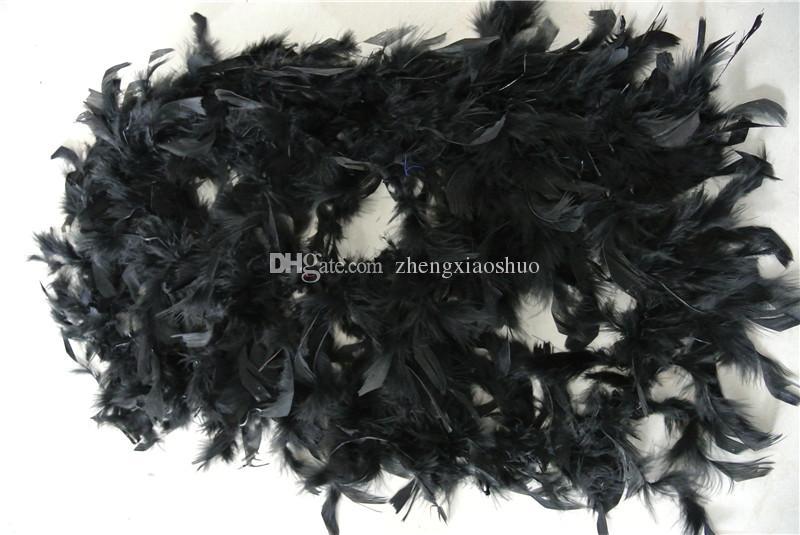 Ücretsiz kargo 20 adet 200 cm / adet siyah Tüy Boas 40 gram için Chandelle Tüy Boas Marabou Tüy Boa kostümler dekor parti olay malzemeleri