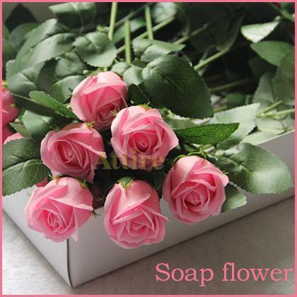 gro handel 2015 valentine gift multicolor red rose soap soap bath flowers blumen seife f r. Black Bedroom Furniture Sets. Home Design Ideas