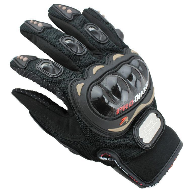 Envío gratuito deportes al aire libre dedo completo caballero moto montar Guantes de moto 3D transpirable tela de acoplamiento hombres de cuero locomotora Guante