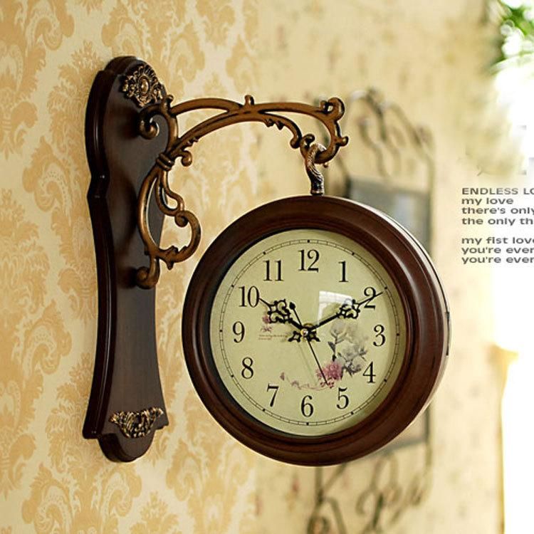 double sided wall clock nostalgic french wall clock vintage