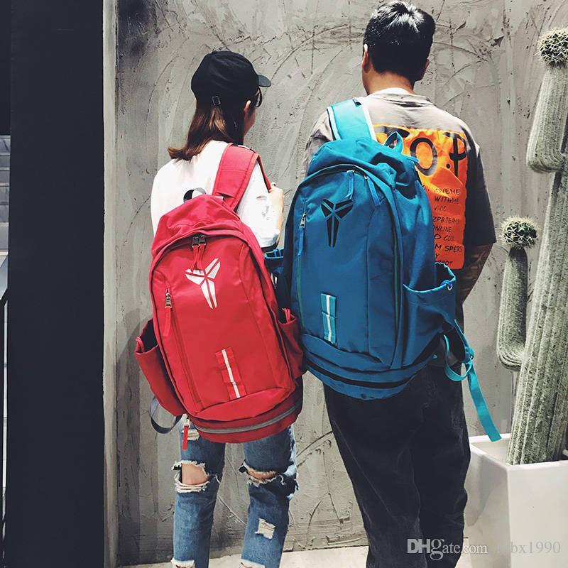 Novo Estilo KOBE Saco Homens Mochilas de Basquete Saco Do Esporte Mochila Saco de Escola Para Adolescente Mochila Ao Ar Livre Multifuncional Pacote Mochila