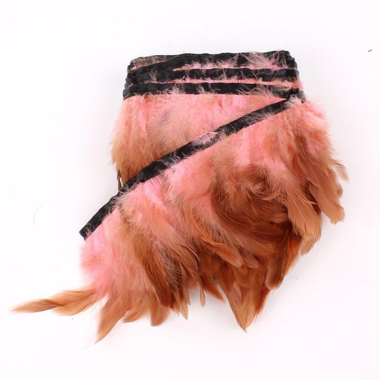 Бесплатная доставка 10yards за лот светло-розовый Coque петух перо обрезки для костюма швейные платье декор
