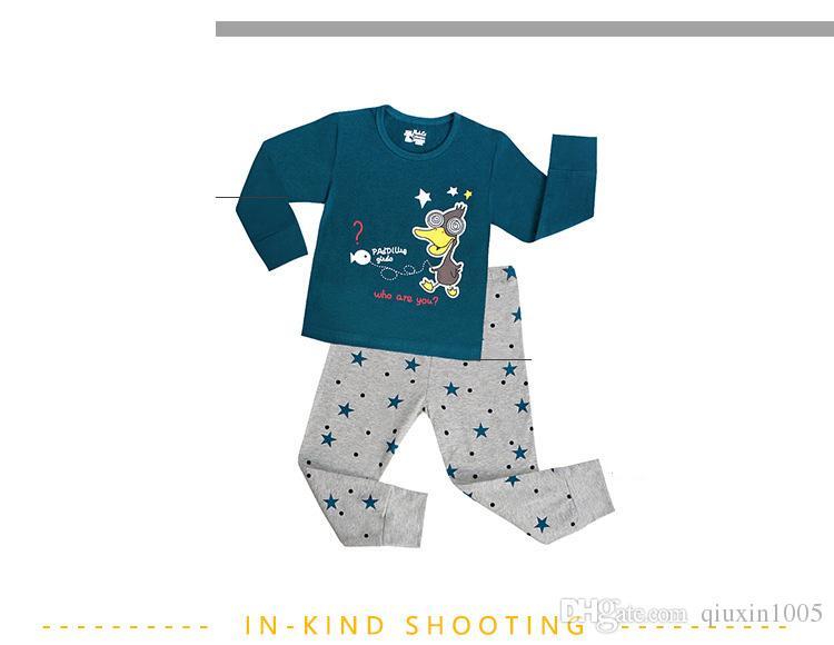 Kids Pajama Sets Boys Sleepwear 2-7 Years Girls Pijamas Suit Children pyjama T-shirt + Pants Baby Girl/Boy Clothing Set