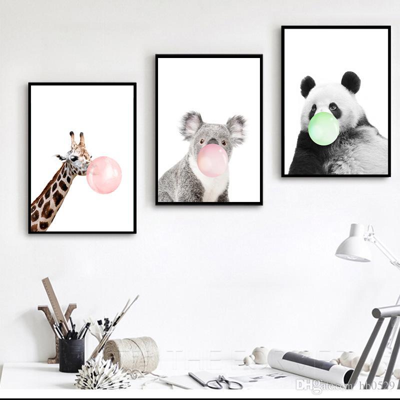 Großhandel Moderne Tierleben Druckt, Mode Und Interessante Malerei ...