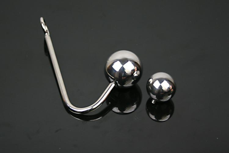 High Quality Stainless Steel Anal Plugs Hooks 2 Size Double ball can be replaced Fetish Chastity Sex Bondage GAY SM Game Butt Plug