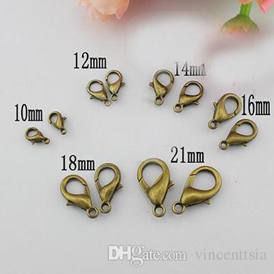 12 mm Karabinerverschlüsse für Kettenhalskettenarmband schnappt Schmuckherstellung Stabseilverbindungsstückbefunde pulseras Teile liefert