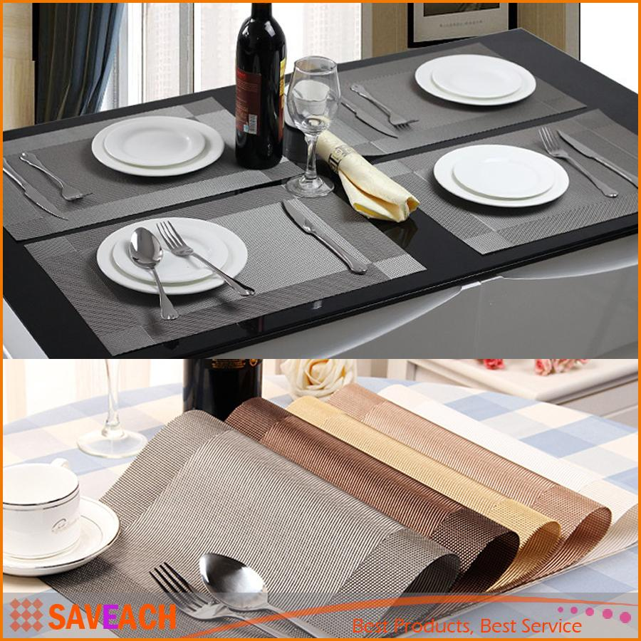 Best Placemat Fashion Pvc Dining Table Mat Pads Bowl Pad Coasters
