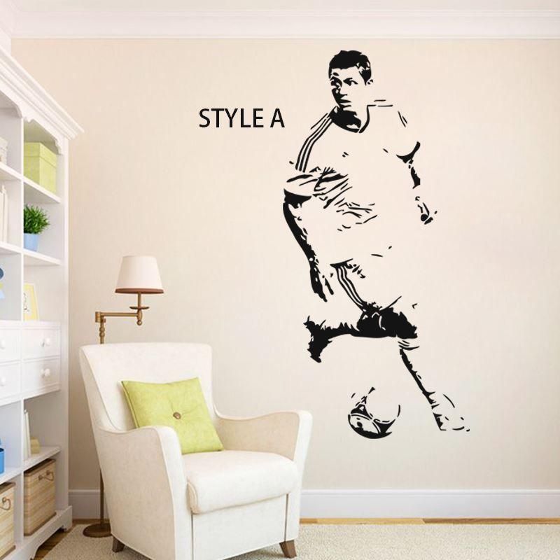 famous football player home decoration cheap vinyl soccer star