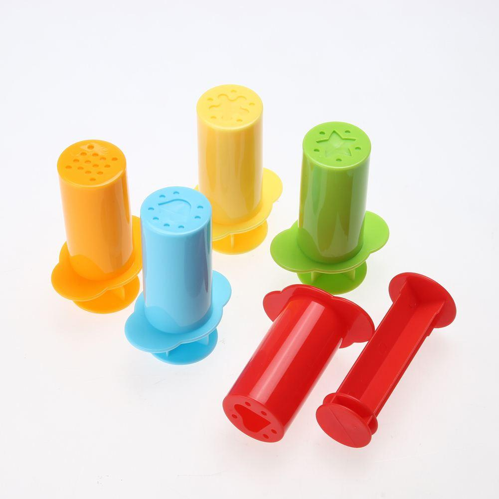 5pcs / Set Kit de herramientas de molde de plastilina Kit Polymer Clay DIY Amor Corazón Estrellas Fideos Herramientas de plastilina Juguete educativo para niños