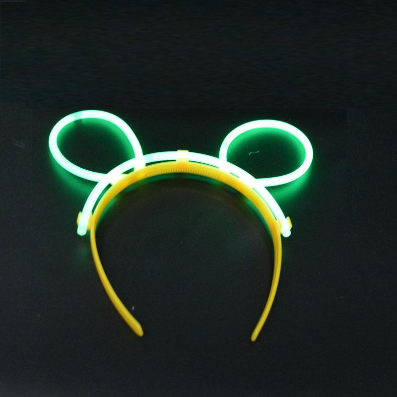 Women Girls GLOW STICKS GLOW BUNNY EARS HEADBAND NEON COLORS PARTY FUN DECOR Led Rave Hair Accessories Toy