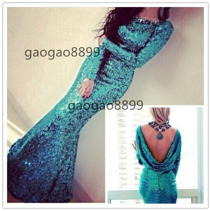 2019 Peacock Turquoise Long Sleeve country mermaid Bridesmaid Dresses Sexy plus size cheap cowl maid of honor Wedding Party Dresses