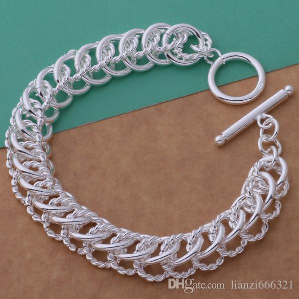 Fashions fabricante de la joyería 925 Sterling Silver multi circle link Pulseras joyería de moda Pulseras joyería precio de fábrica