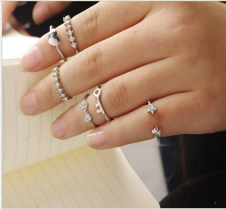 2015 New Design Silver And Golden Joint Ring For Women With High ...