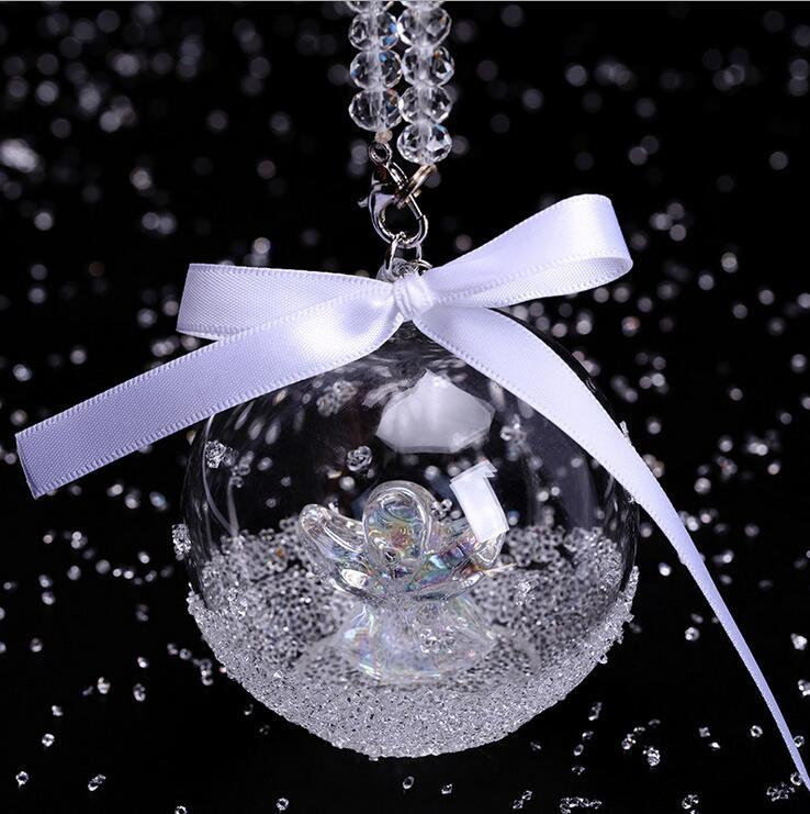 Lovely Swarovski Christmas Ornaments Part - 8: Swarovski Christmas Crystal Angel Ball Ornaments 2015 Annual Edition  Ornament Car Accessories Car Pendants Dhl Free Express Shipping Interior  Car ...