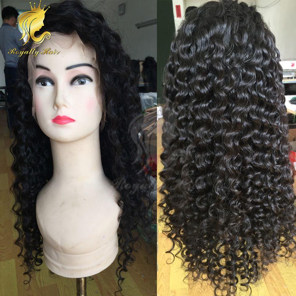 Pelucas del pelo humano del frente del cordón rizado profundo para las mujeres negras Pre arrancado 13X4 Remy brasileño Peluca del enrollamiento Peluca Nudo blanqueado Peluca Riya