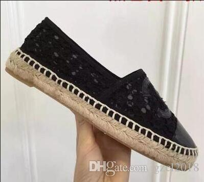 a3e26d6f3b7 2018 Women Genuine Leather Espadrilles Brand Designer Fashion Flats ...