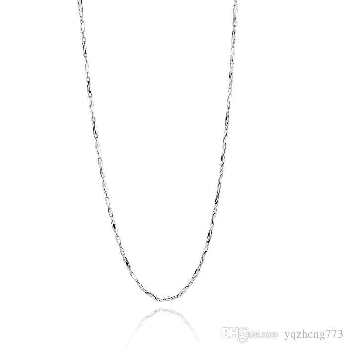 925 стерлингового серебра цепи геометрические подлинной ожерелья в 40-45 см слитка цепи для мужчин или женщин ожерелье бесплатная доставка L-08