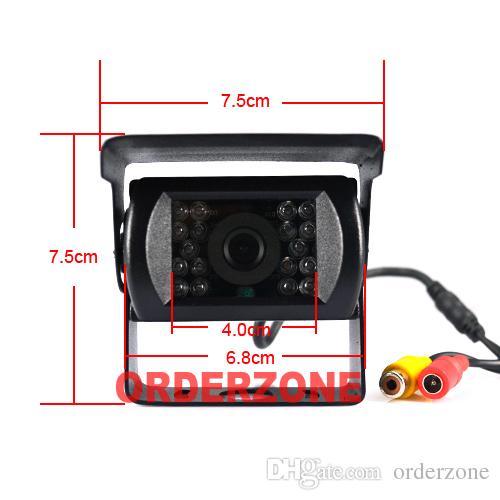 Kablosuz CCD 18 IR LED Gece Görüş Su Geçirmez Geri Yedekleme Kamera + 7