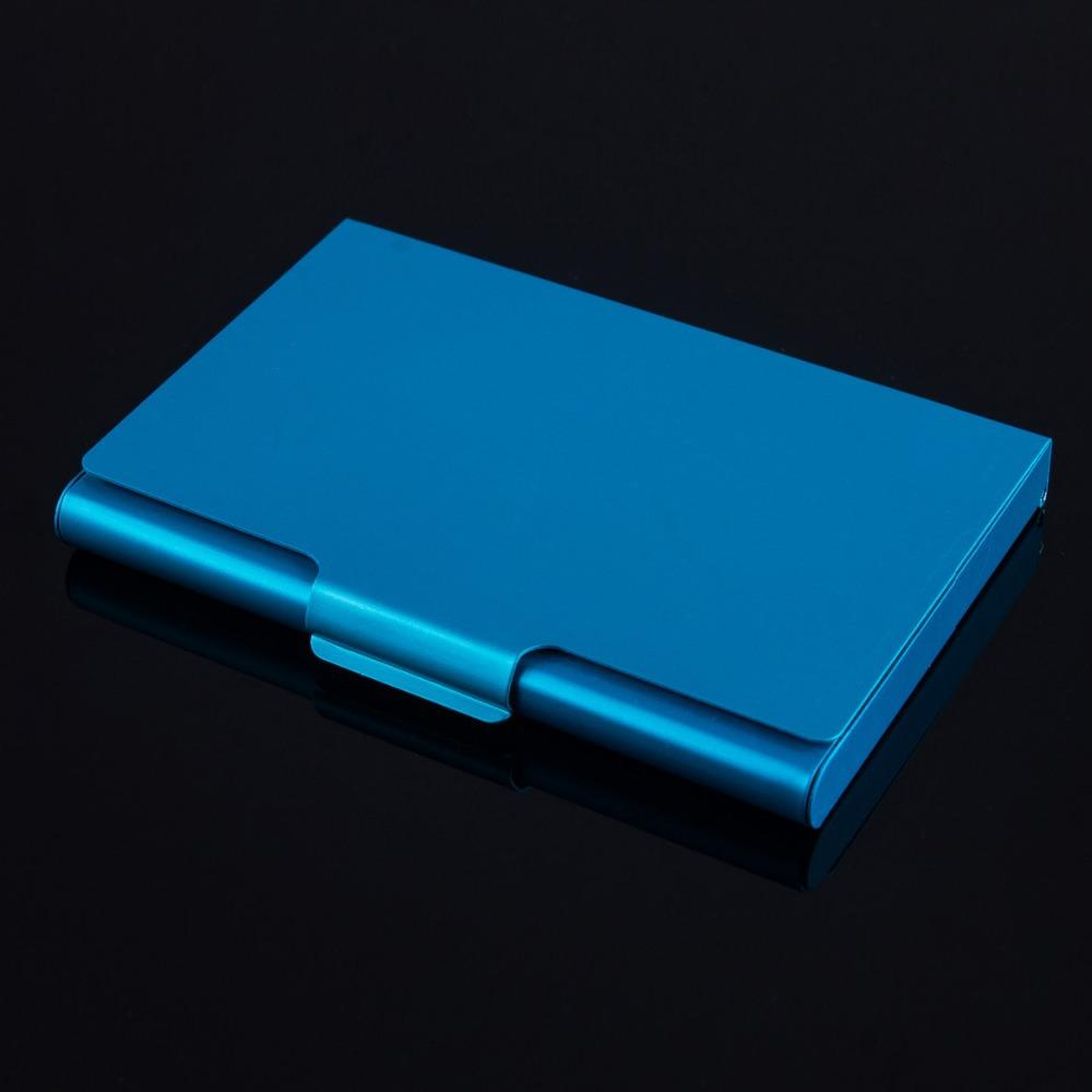 Aluminum alloys pocket business name card holder credit id card case see larger image colourmoves