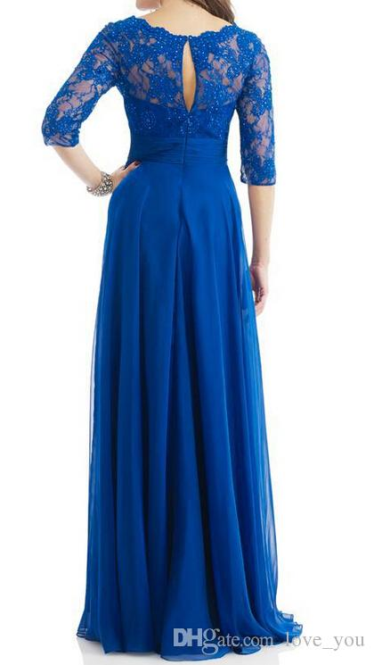 ربيع جديد مجموعة الأم غمد الأزياء من فساتين العروس باتو 3/4 طويلة الأكمام ألف خط طول الطابق الخرز سستة الشحن المجاني