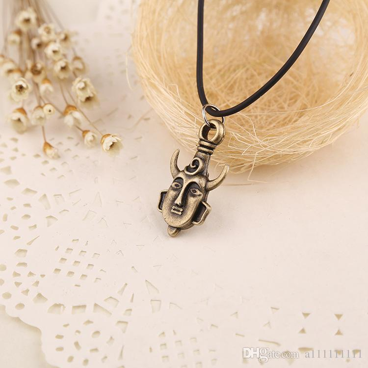 New Statement Necklace Supernatural Necklace Inspired Dean's Amulet Dean Winchester Pendant Necklace Movie Jewelry