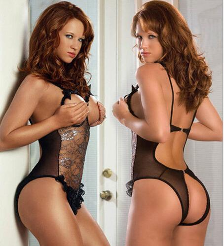 Lingerie with open crotch