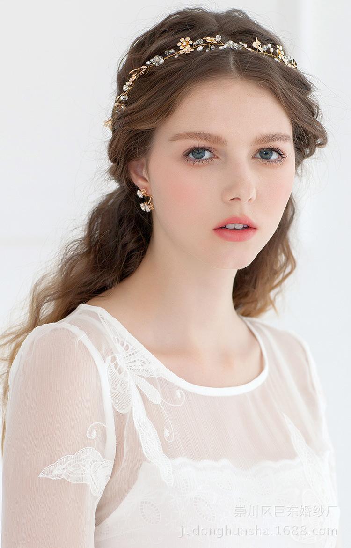 Vintage Hair Accessoies Bridal Crown Tiara Wedding Jewelry Crystal Flower Pearl Bridesmaid Hair