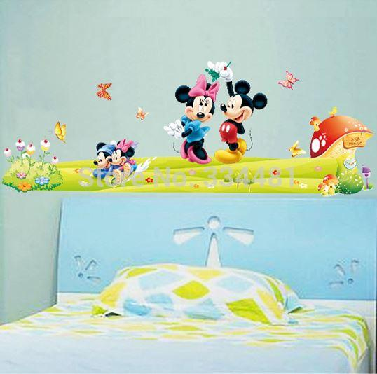 Attractive Df5086 Mickey Minnie Mouse Family Vinyl Wall Sticker Art Baby Kids Room  Poster Cartoon Wallpaper Decal Tree Wall Decals For Nursery Tree Wall Decor  Stickers ... Gallery