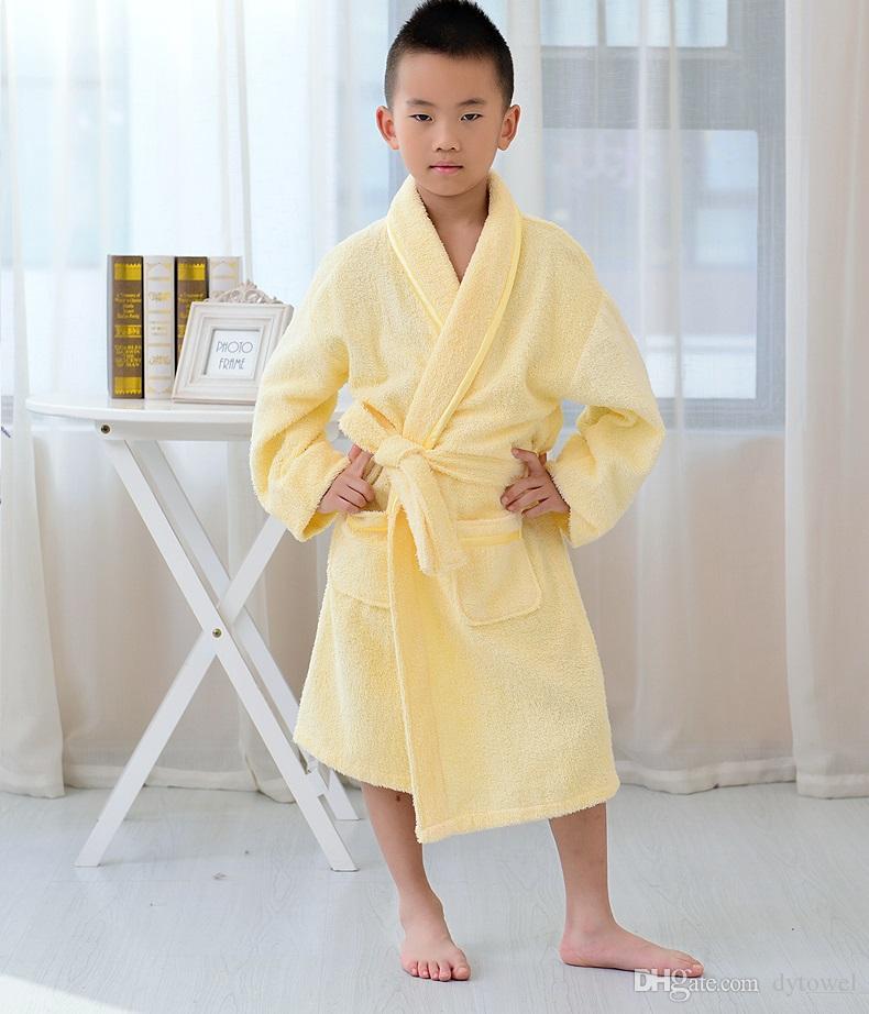 Coton Towe Tissu Enfants Peignoir Doux Chaud Bébé Filles Garçons Enfants Nuit Peignoir Robe Bleu Rose Peignoir Vêtements De Nuit Homewear Pyjamas Vêtements