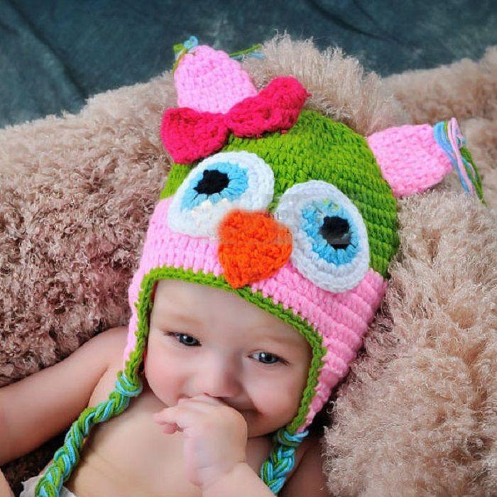 20шт малыша сова ушная лоскут вязание крючком шляпу дети ручной работы вязание крючком сова шансы шапка ручной работы сова шансы дети вязаная шляпа