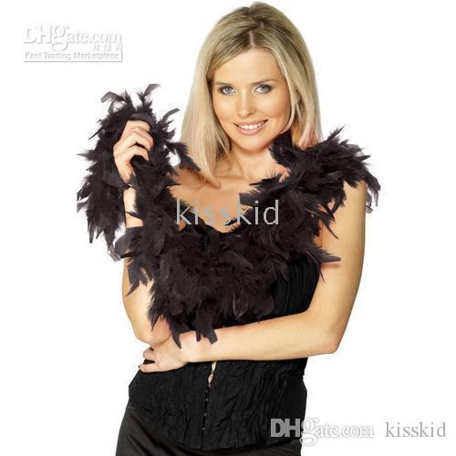 10 stks Jurk Accessoire Zwart Veer Boa Party Costume 2m Thicken 60G Woondecoratie Feestelijke Benodigdheden