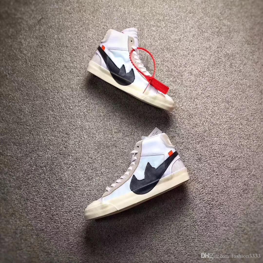 a8beabc7f9a20a 2019 2018 THE TEN OFF WHITE X VIRGIL ABLOH X BLAZER BLAZER MID MEN RUNNING  SHOES THE 10 SNEAKERS WITH ORIGINAL BOX From Huangsr