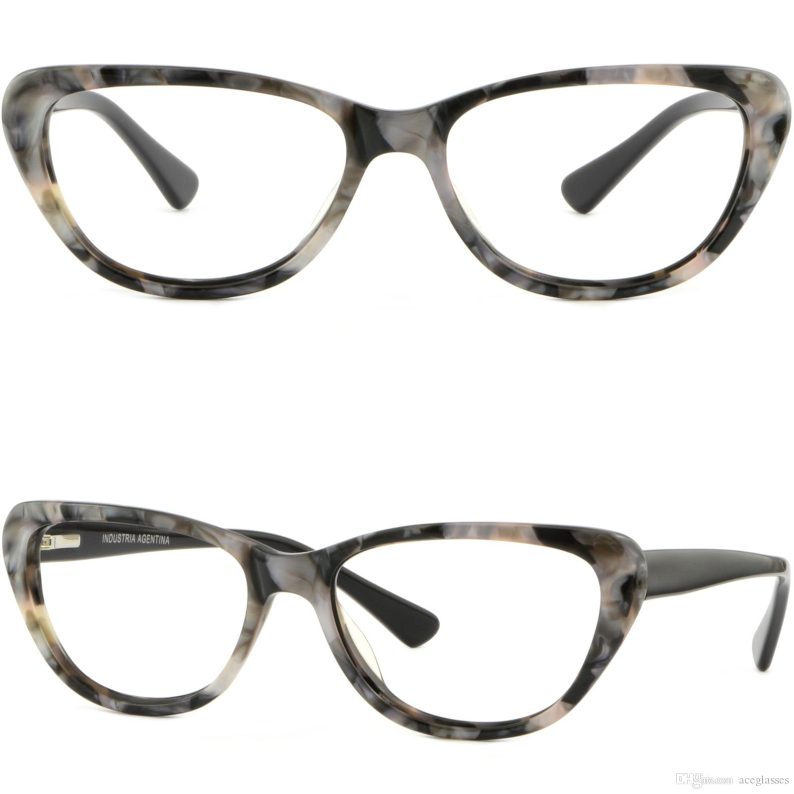 Light Women\'S Cateye Acetate Frames Spring Hinges Glasses Sunglasses ...