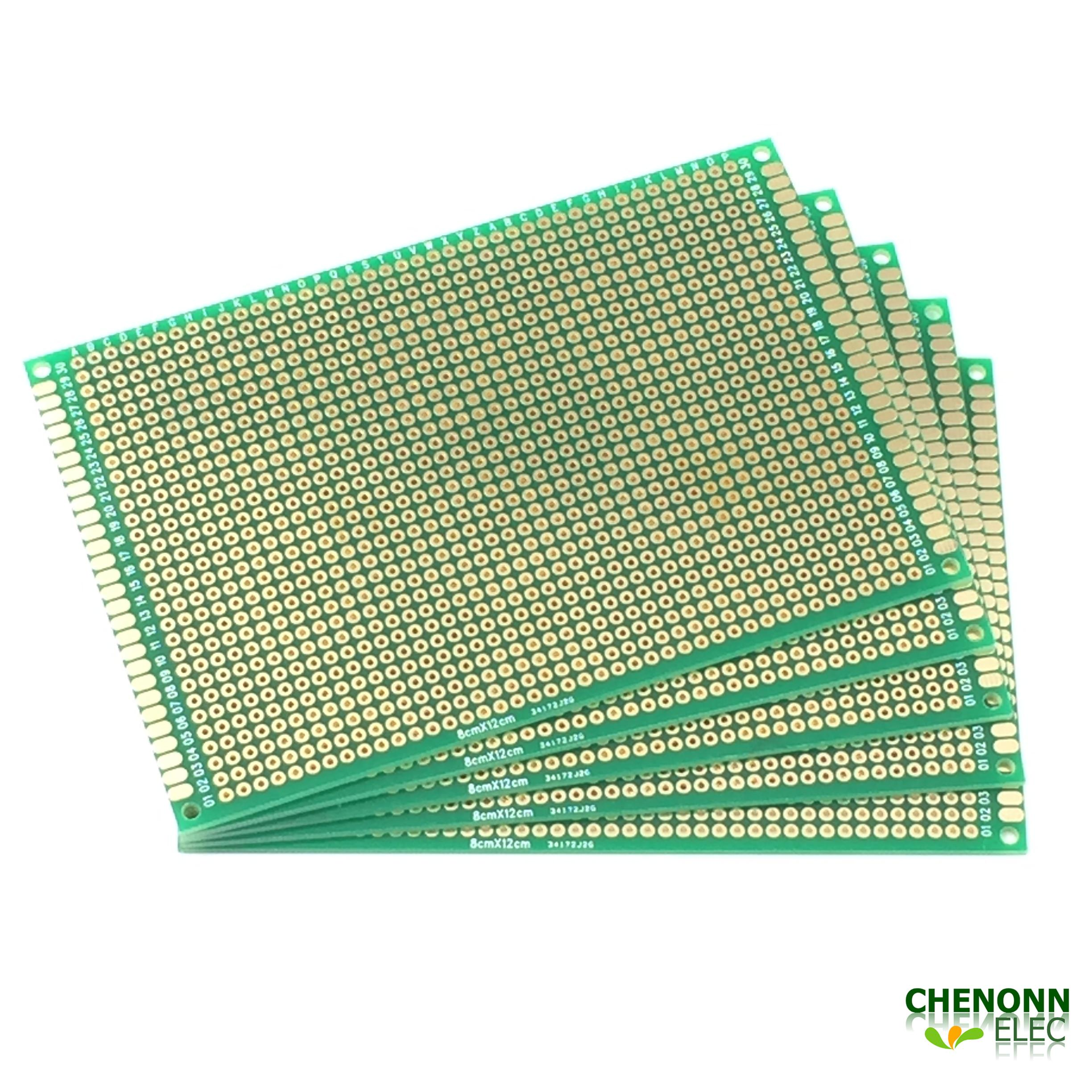 2019 High Quality Diy Breadboard 8x12 Cm Double Sided Universal Pcb
